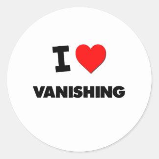 I love Vanishing Classic Round Sticker