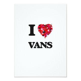 I love Vans 13 Cm X 18 Cm Invitation Card