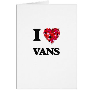 I love Vans Greeting Card