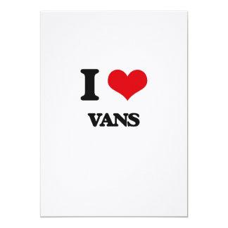"I love Vans 5"" X 7"" Invitation Card"