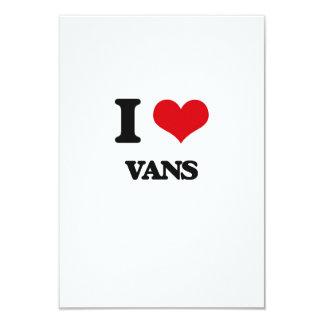 "I love Vans 3.5"" X 5"" Invitation Card"