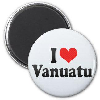 I Love Vanuatu 6 Cm Round Magnet
