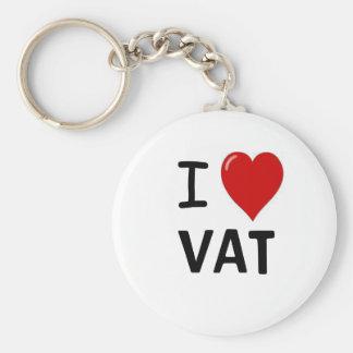 I Love VAT I Heart VAT Key Chains