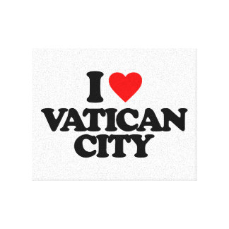 I LOVE VATICAN CITY GALLERY WRAPPED CANVAS