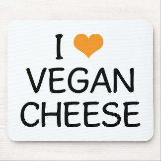 I Love Vegan Cheese Mouse Pad