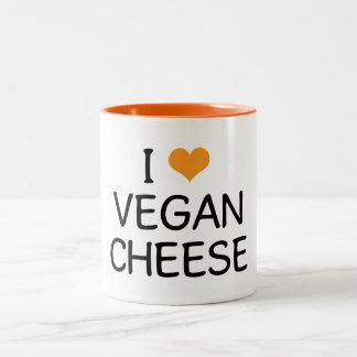 I Love Vegan Cheese Two-Tone Coffee Mug