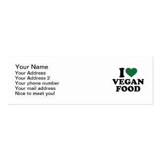 I love vegan food pack of skinny business cards