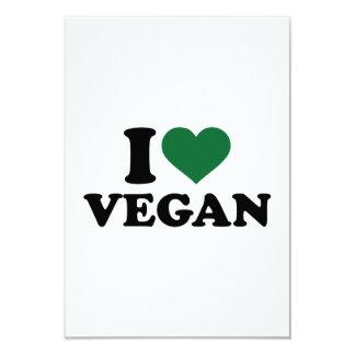 "I love Vegan 3.5"" X 5"" Invitation Card"