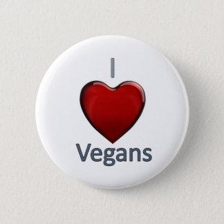 I Love Vegans 6 Cm Round Badge
