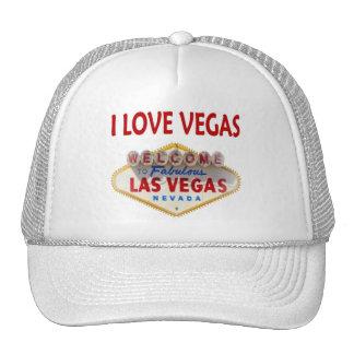 I LOVE VEGAS CAP TRUCKER HAT