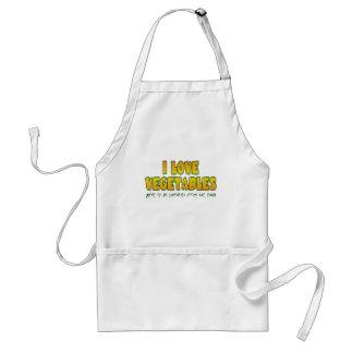 I love vegetables standard apron