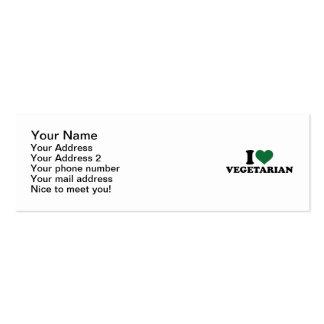 I love vegetarian pack of skinny business cards