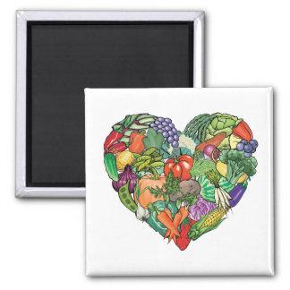 I Love Veggies Refrigerator Magnets
