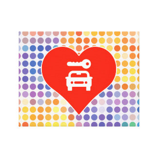 I Love Vehicle Stretched Canvas Prints