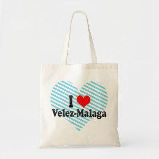I Love Velez-Malaga Spain Tote Bags
