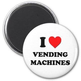 I love Vending Machines 6 Cm Round Magnet