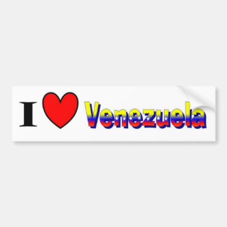 I love Venezuela Bumper sticker