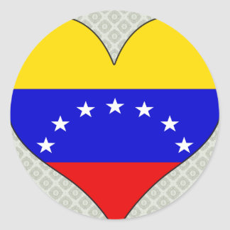 I Love Venezuela Classic Round Sticker
