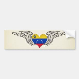 I Love Venezuela -wings Bumper Sticker