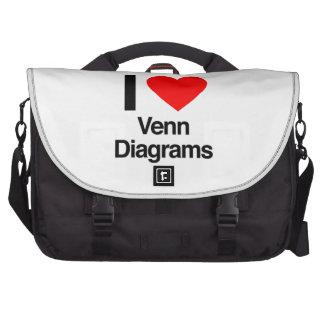 i love venn diagrams laptop commuter bag