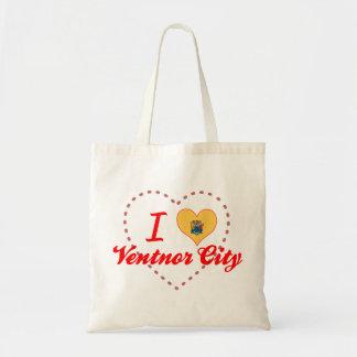 I Love Ventnor City, New Jersey Canvas Bags