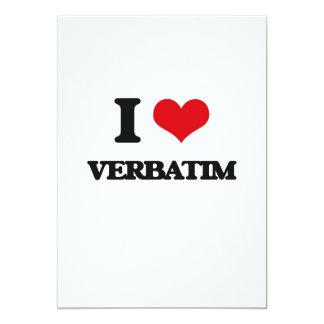 "I love Verbatim 5"" X 7"" Invitation Card"