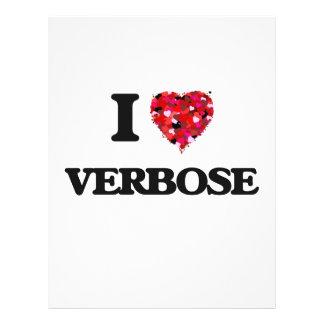 I love Verbose 21.5 Cm X 28 Cm Flyer