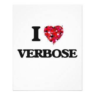 I love Verbose 11.5 Cm X 14 Cm Flyer