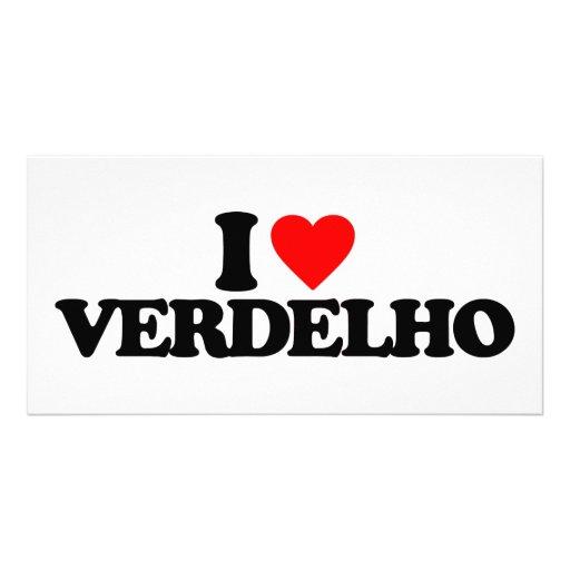 I LOVE VERDELHO PHOTO CARD