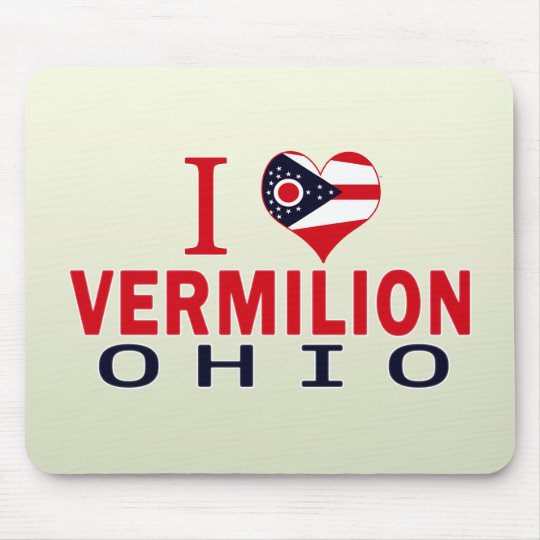 I love Vermilion, Ohio Mouse Mat