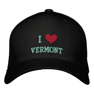 I LOVE VERMONT -- EMBROIDERED BASEBALL CAP
