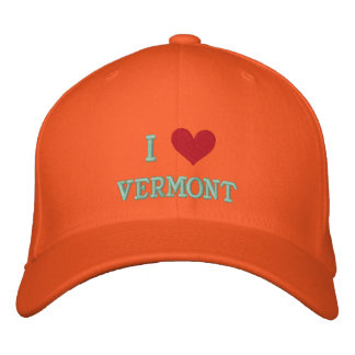I LOVE VERMONT -- EMBROIDERED EMBROIDERED HATS