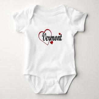 I Love Vermont Hearts Infant Creeper