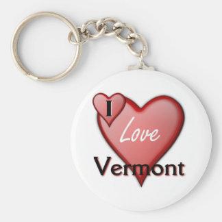 I Love Vermont Key Ring