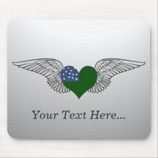 I Love Vermont Republic -wings Mouse Pads