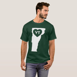 I Love Vermont State Men's Basic Dark T-Shirt