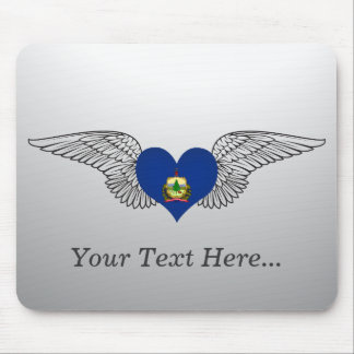 I Love Vermont -wings Mouse Pad