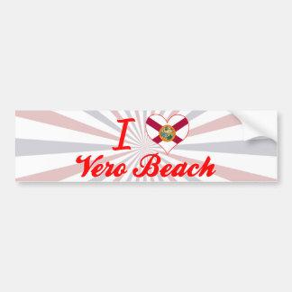 I Love Vero Beach, Florida Bumper Sticker