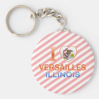 I Love Versailles, IL Keychains
