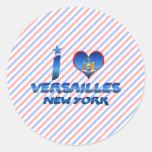 I love Versailles, New York Stickers