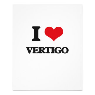 I love Vertigo 11.5 Cm X 14 Cm Flyer