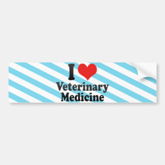 I Love Veterinary Medicine Bumper Sticker