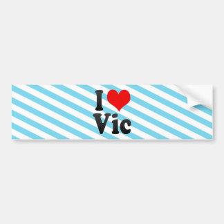 I Love Vic, Spain Bumper Sticker