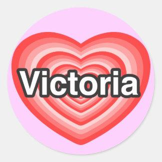 I love Victoria. I love you Victoria. Heart Classic Round Sticker