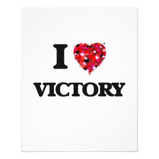 I love Victory 11.5 Cm X 14 Cm Flyer