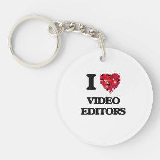 I love Video Editors Single-Sided Round Acrylic Key Ring