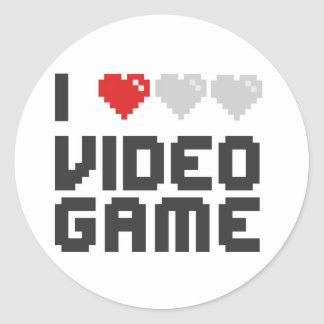 I Love Video Game Classic Round Sticker