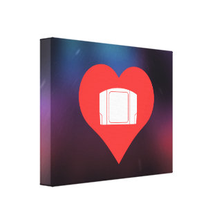 I Love Video Game Controls Cool Icon Gallery Wrap Canvas