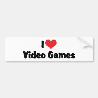 I Love Video Games Bumper Stickers