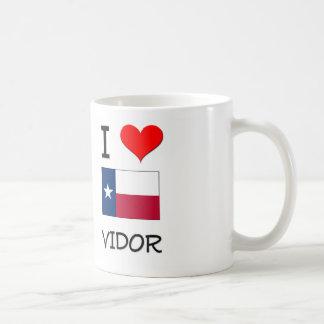 I Love Vidor Texas Basic White Mug